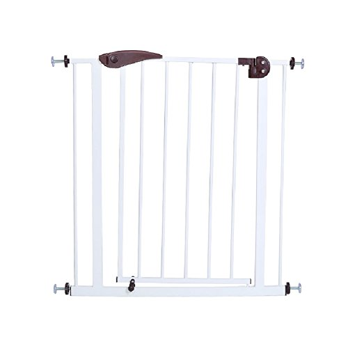 Olymstore Pet Gate Pet Dog Cat Fence,Indoor Portable Gate Fence Walk Through Safety Gate Garden Enclosure Fence Kit,Baby Child Dog Cat Barrier Safety Door Walk Gate Free Standing