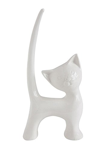Kitty Cat Decorative Ceramic Ring Holder