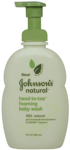 Johnson Natural Baby Head-to-toe Wash, 9-once (Pack de 3)
