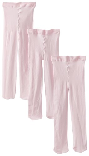 (Jefferies Socks Baby Girls' Smooth Microfiber Tights 3 Pair Pack, Pink, 18 24 Months)