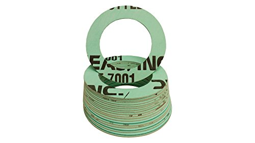 Pressure Class 300# Green//Blue//White 1//32 Thick Pack of 100 4 Pipe Size Sterling Seal CRG7001.400.031.300X100 7001 Compressed Non-Asbestos 0.31 Aramid//NBR Ring Gasket