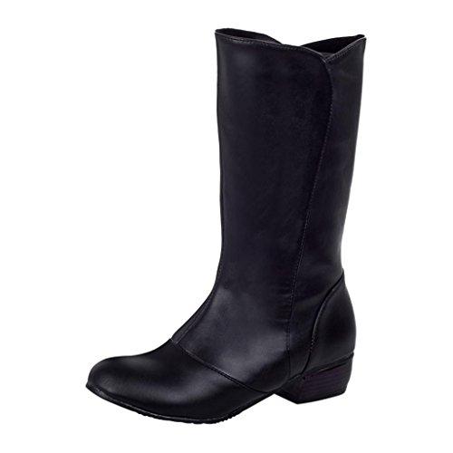 Hee Grand Damen Maedchen Elegante Schuhe Sexy Stiefel Schwarz