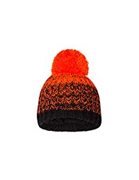 Mountain Warehouse Fleece Lined Kids Knitted Beanie - Winter Pom Hat