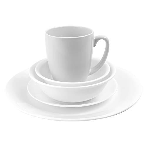 Corelle Livingware Piece Dinnerware Set, Winter Frost White, Service for 4, (20 Piece) from Corelle