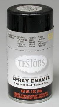 Paint Model Aircraft (Flat Dark Aircraft Grey Enamel Paint 3oz Spray Can)
