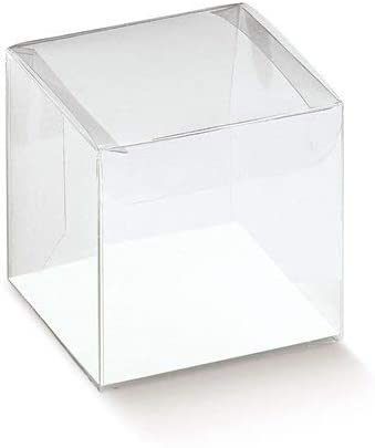 Espirito Rebelde Lda. Pack 25 Cajas Acetato Transparente scatto 40x40x40mm: Amazon.es: Hogar