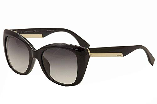 (Fendi 0019/S Sunglasses-0D28 Shiny Black (9O Dark Gray Gradient)