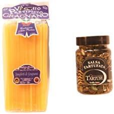 Albo Trade Miniaturen Magnetische Kombination aus Älterem Pastificio Spaghetti und Giuliano Tartufi Sausa