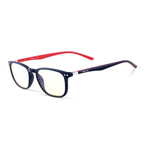 Computer Glasses,Sxacntg Anti Reflectiv/Eye Strain Lens,Blue Light Blocking Gaming Glasses and Prevent Headaches,Sleep Better Glasses for Women/Men/Boys/Girls(Red)
