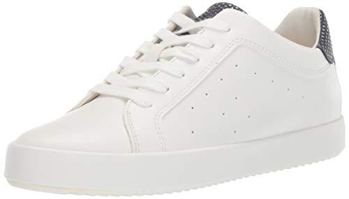 - Geox Women's BLOMIEE 9 Fashion Sneaker, White/Navy 38 Medium EU (8 US)
