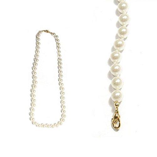 MARY JANE - Collier fantaisie Femme - Long:45cm / Larg:8mm - Métal doré-Verre (Boule / Perle)