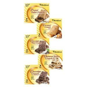 Medifast Caramel Crunch Bars 1 Box (7 Bars Each) by Medifast