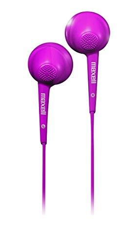Maxell 191570 Jelleez Soft Ear Buds Purple With Mic