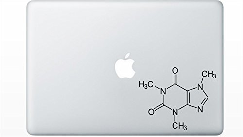 Caffeine Molecule Decal by Buttered Kat (Black)