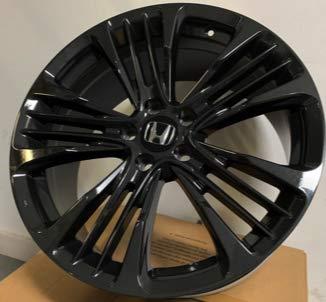 (19 inch x 8.5 Dark Black Gunmetal Wheels Rims compatible with Honda Accord Acura Set of 4 )