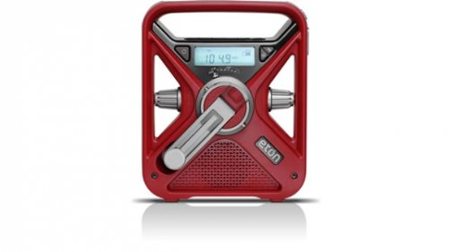 Eton FRX3 Hand Turbine AM / FM NOAA Weather Alert Radio with Smartphone Charger - Red, NFRX3WXR by Eton (Image #7)