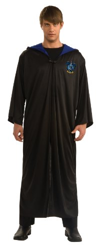 Harry Potter Adult Ravenclaw Robe, Black, Standard Costume (Boys Dress Up Ideas)