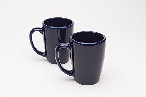 American Mug Pottery Ceramic Coffee Mug, Made in USA, Ivory,