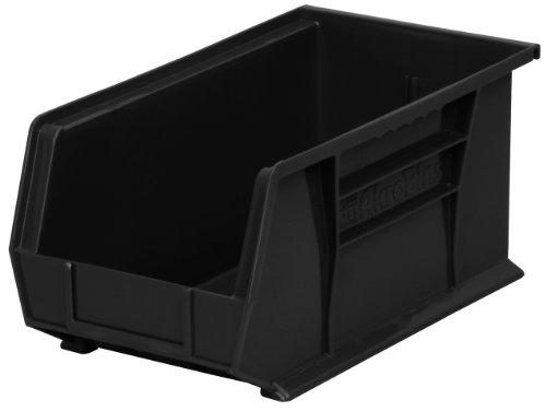 (Akro-Mils 30240 Plastic Storage Stacking Hanging Akro Bin, 15-Inch by 8-Inch by 7-Inch, Black, Case of 12)