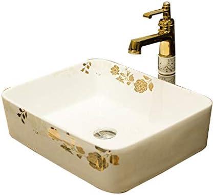 XiuHUa 洗面化粧台小さなアパートホームセンターセラミックテーブル技術矩形浴室洗面台バルコニー洗濯プール浴室洗面48x37x13cm ホームセンター (Size : 48x37x13cm)