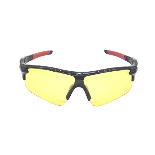 Sekishun-cho Outdoor Sports Athlete's Sunglasses for Cycling Fishing Golf,100% UV Protection ()