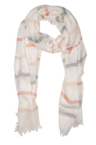 GIULIA BIONDI 100% made in Italy Cotton Lurex Striped Scarf Shawl Wrap Stole Soft Long Lightweight Women ()