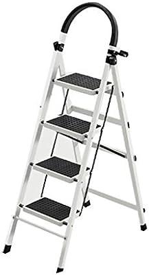 Multifuncional Engrosamiento de hierro escaleras de tijera, de cuatro pasos de Doble Uso de la escala