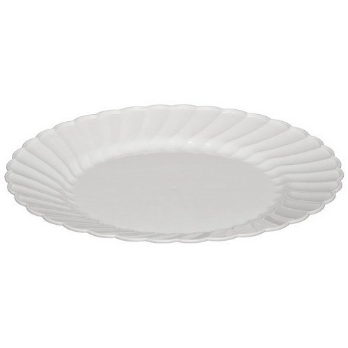 WNA CW10144W Classicware Plates, Plastic, 10.25 in, White (Case of 144)
