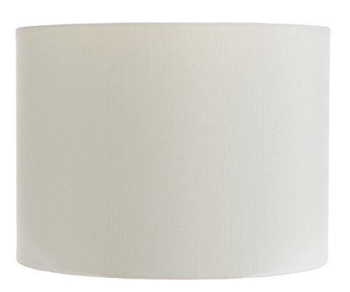 Upgradelights 5 Inch Retro Barrel Drum Clip on Chandelier Lampshade - Ivory Classic Shade