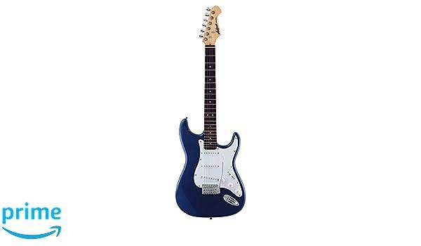 Aria STG003A - Guitarra Stratocaster, color azul: Amazon.es: Instrumentos musicales