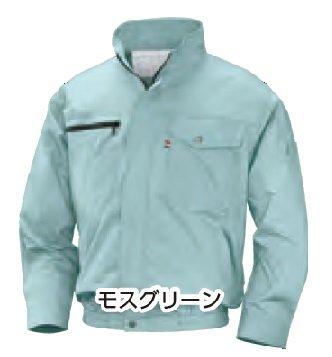 NSP 空調服 オリジナルセット NA-201 モスグリーン Lサイズ (立ち襟綿100%/薄手 (肩袖 補強なし)) B075JF8PK1