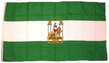 Bandera de la bandera de España enarbolen - 90 x 150 cm Diseño de Andalucía: Amazon.es: Deportes y aire libre