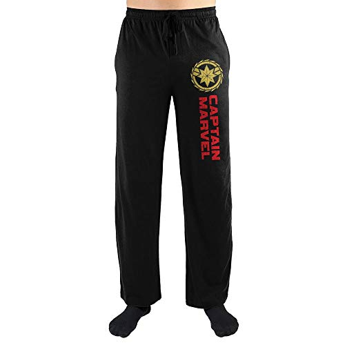Marvel Clothing Captain Marvel Sleep Pajama Pants Pajamas-X-Large Black