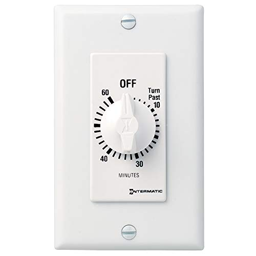Intermatic FD60MWC 60-Minute Spring-Wound In-Wall Countdown Timer Switch for Auto-Off control of Fans and Lights, ()