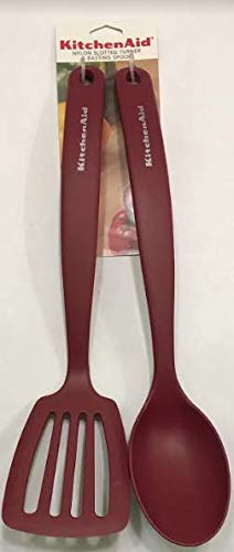 Kitchenaid Nylon Slotted Turner Basting Spoon Set Red Buy Online In Luxembourg At Luxembourg Desertcart Com Productid 119826790