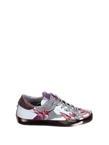 Philippe Model Damen CELDBG09 Weiss/Grau Leder Sneakers