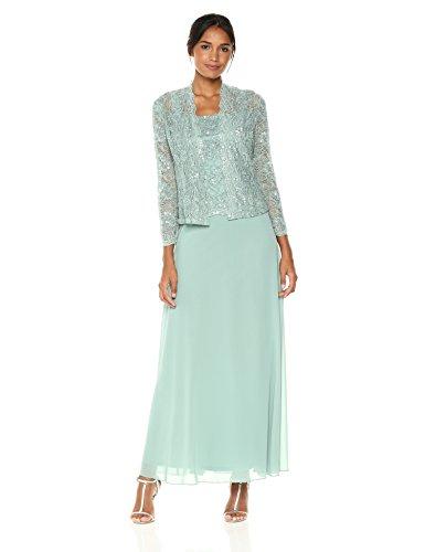 Emma Street Women's Two Piece Lace Jacket Dress, Mint, 10
