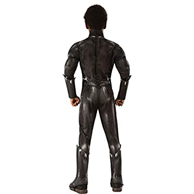 Deluxe Black Panther Costume for Children X-Large: Clothing