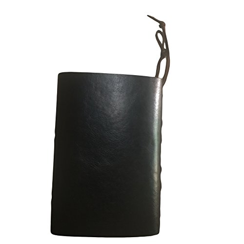 Travel Journal - Faux Black Leather Journal with Refillable Paper-Unique Birthday Gift for Women and Men- Great for Students studying abroad or aspiring Writers- Bonus Included. By: MAK Enterprise LLC Photo #2