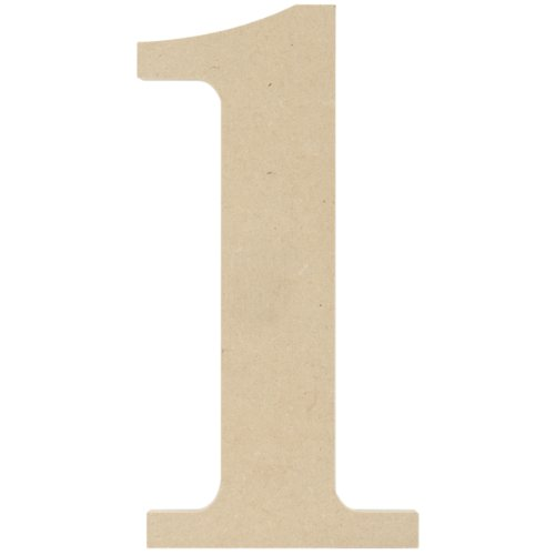 MPI MDF Classic Font Wood Letters and Numbers, 9.5-Inch, Number 1