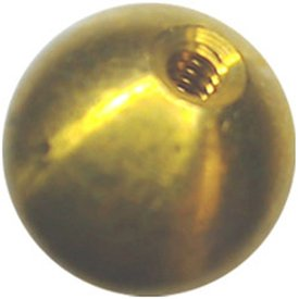 49 5/8'' dia. threaded 6-32 brass balls drilled tapped lamp finials by Bearing Ball Store