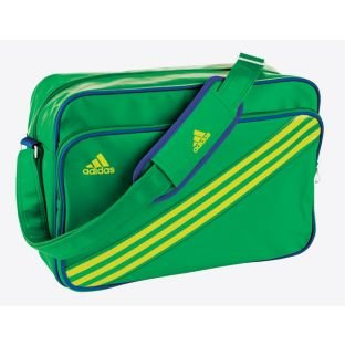 aa03054afd Adidas Enamel Stripe Messenger Bag - Green. 1 external pocket.   Amazon.co.uk  Luggage