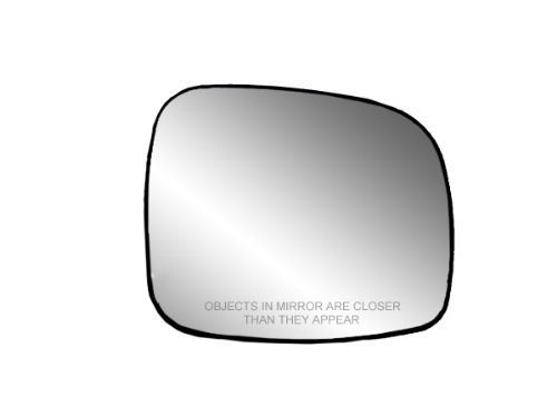 Heated Side Passenger Mirror - Fit System 30241 Passenger Side Heated Replacement Mirror Glass with Backing Plate
