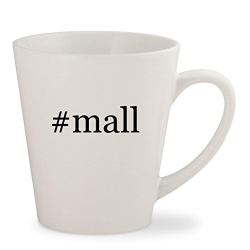 #mall - White Hashtag 12oz Ceramic Latte Mug - Mall Burlington