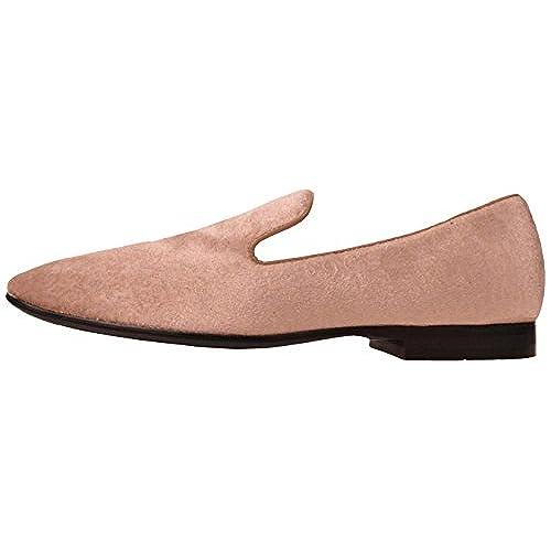 eb01325c134e on sale Amali Mens Classic Champagne Paisley Velvet Smoking Slipper Style  Slip On Dress Shoe