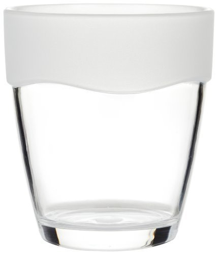 Carnation Home Fashions Clear Acrylic Tumbler with Frosted Clear Trim by Carnation Home Fashions