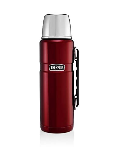 Thermos Stainless King Flask, Red, 1.2 L
