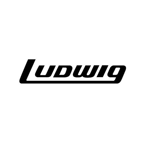 Ludwig AV8042 Bass Drum Decal, Black on Clear