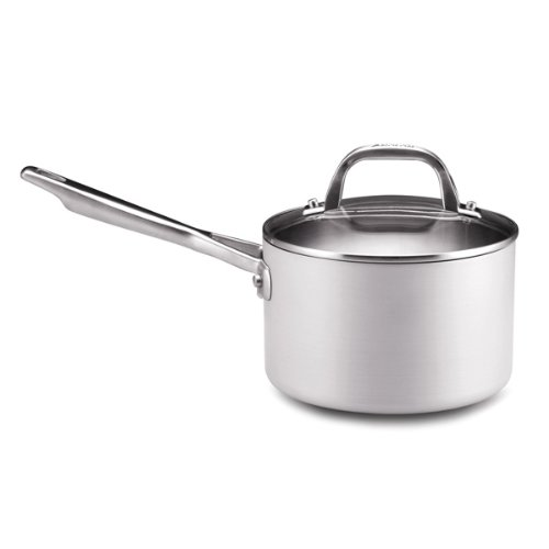 Anolon Chef Clad Stainless Steel 3-Quart Covered Saucepan