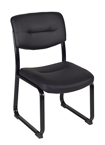 Regency Crusoe Leather Guest Chair, Black